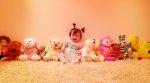 Niemowlak i jego zabawki